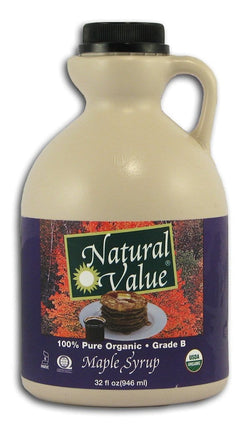 Natural Value Maple Syrup Grade B Organic - 32 ozs.