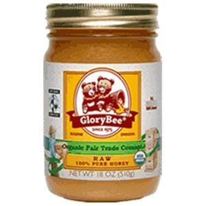 Glorybee Honey, Fair Trade, Raw Comapi, Organic - 6 x 18 ozs.