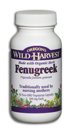 Oregon's Wild Harvest Fenugreek Organic - 90 veg caps