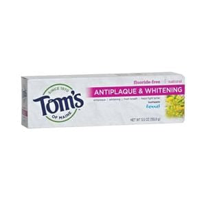 Tom's of Maine Toothpaste, Antiplaque & Whitening, Peppermint - 5.5 ozs