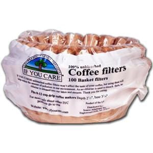 If You Care Coffee Filters, 8 inch Basket, Unbleached - 24 x 100 filters