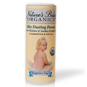 Nature's Baby Organics Dusting Powder, Fragrance Free, Organic - 4 ozs.