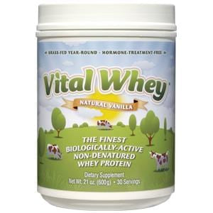 Well Wisdom Whey Vital Protein Powder, Natural Vanilla - 6 x 21 ozs.