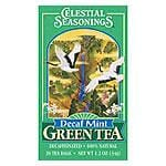 Celestial Seasonings Green Teas Decaffeinated Mint