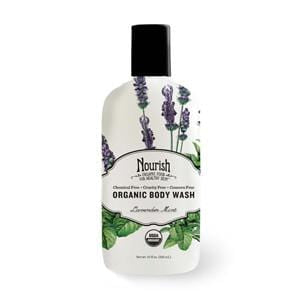 Nourish Body Wash, Lavender Mint, Organic - 12 x 10 ozs.