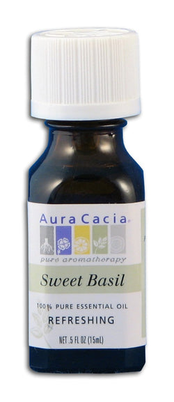 Aura Cacia Basil Essential Oil - 0.5 oz.