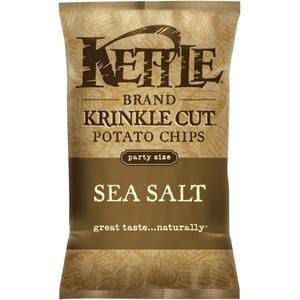 Kettle Foods Potato Chips, Sea Salt, Krinkle Cut - 13 ozs.