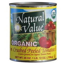 Natural Value Tomatoes, Crushed, Organic - 12 x 28 ozs.