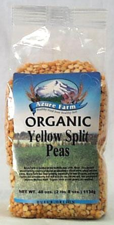 Azure Farm Yellow Split Peas Organic - 4 x 40 ozs.