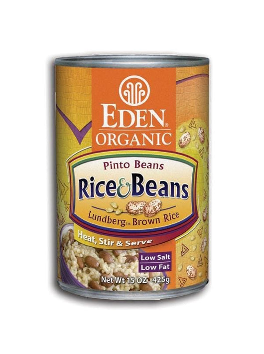Eden Foods Rice and Pinto Beans Organic - 12 x 15 ozs.