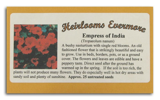 Heirlooms Evermore Empress of India Seeds - 25 seeds