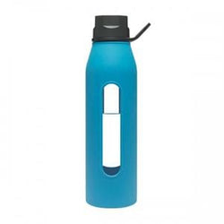 Takeya Glass Water Bottle, Blue - 22 ozs.