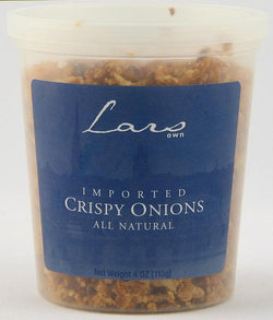 Lars' Own Crispy Onions All Natural - 12 x 4 ozs.