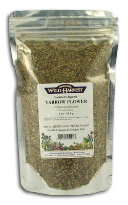 Oregon's Wild Harvest *Yarrow Flowers(Cut & Sifte, Organic - 4 ozs.