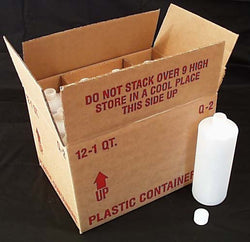 Packaging Supplies Empty Plast. Container Tall Cylinder 32 oz. - 12 x 32 ozs.