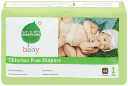 Seventh Generation Baby Diapers Stage 1 (8-14 lbs) - 4 x 40 ct.