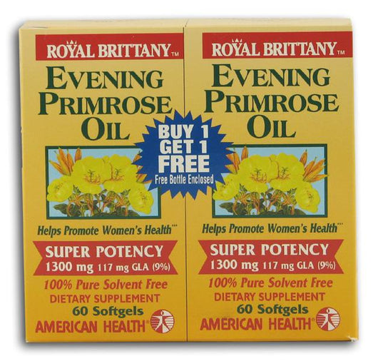 American Health Royal Brittany Evening Primrose Oil - 60 softgels +