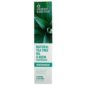 Desert Essence Tea Tree Neem Toothpaste Wintergreen - 6.25 ozs.