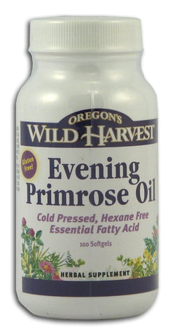 Oregon's Wild Harvest Evening Primrose Oil Gelcaps - 100 gelcaps