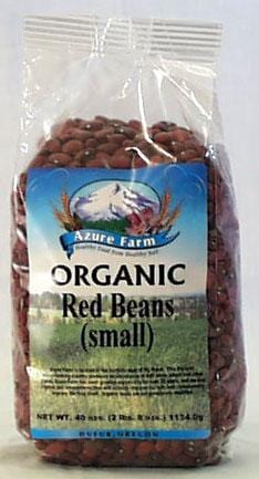 Azure Farm Red Beans Small Organic - 40 ozs.