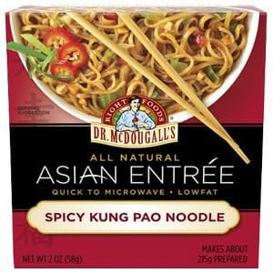 Dr. McDougall's Right Foods Asian Entree Spicy Kung Pao Noodles - 6 x 2 ozs.