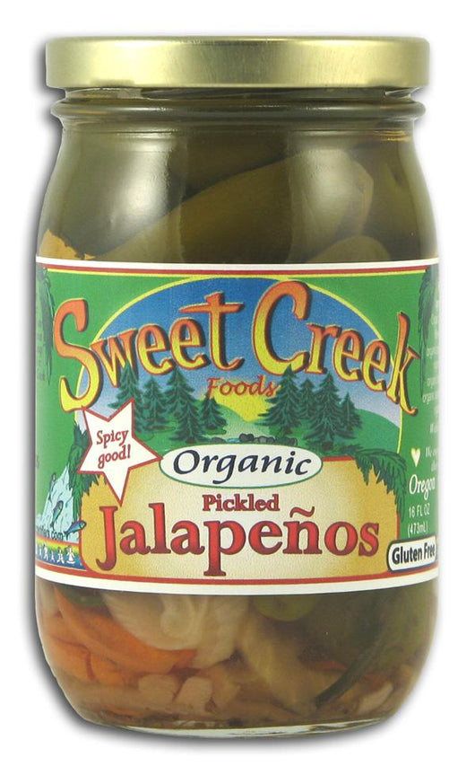 Sweet Creek Foods Pickled Jalapenos Organic - 12 x 16 ozs.