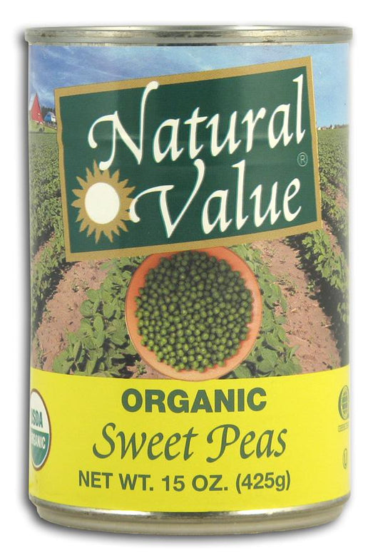 Natural Value Sweet Peas, Organic - 15 ozs.