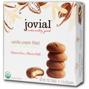 Jovial Foods Cookies, Chocolate, Vanilla Cream Filled, Gluten Free, Organic - 7 ozs.