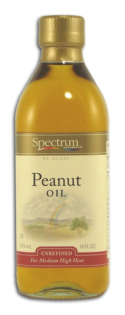 Spectrum Peanut Oil Unrefined - 16 ozs.