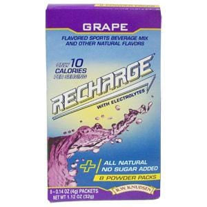 Knudsen Recharge Powder, Grape - 12 x 1.2 ozs.