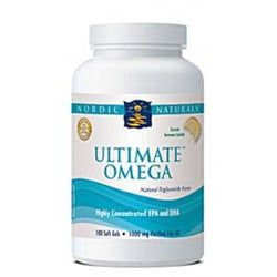 Nordic Naturals Ultimate Omega, Lemon Flavor 1000 mg - 180 softgels