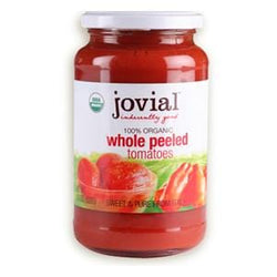 Jovial Foods Tomatoes, Whole Peeled, in Glass, Organic - 18.3 oz
