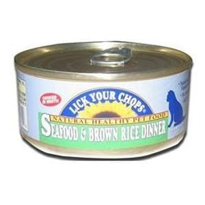 Lick Your Chops Cat Food, Canned, Seafood & Brown Rice - 5.5 ozs.