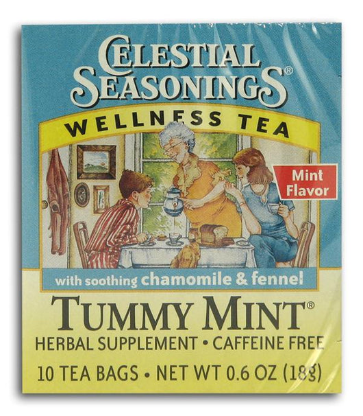 Celestial Seasonings Tummy Mint Tea - 6 x 1 box