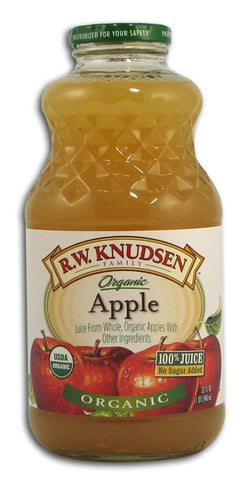 Knudsen Apple Juice Organic - 12 x 32 ozs.