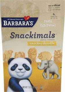 Barbara's Bakery Snackimals Snickerdoodle - 6 x 7.5 ozs.
