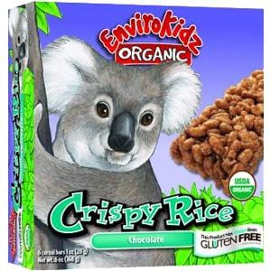 EnviroKidz Crispy Rice Bar Chocolate Organic - 6 ozs.