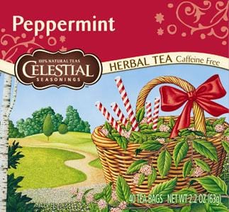 Celestial Seasonings Peppermint Tea (40-bag) - 6 x 1 box