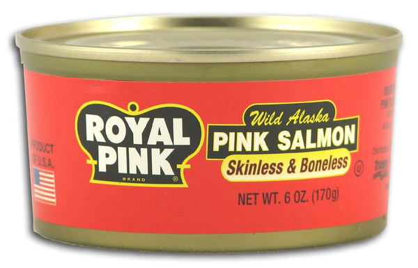 Royal Pink Pink Salmon Skinless/Boneless - 6 ozs.
