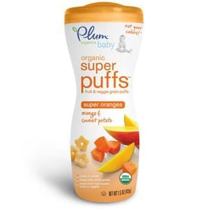 Plum Organics Super Puffs, Orange-Mango & Sweet Potato, Organic - 8 x 1.5 oz