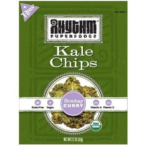 Rhythm Superfoods Kale Chips, Bombay Curry, Organic - 2 ozs.