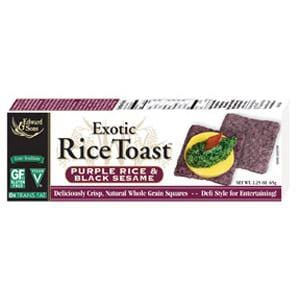 Edward & Sons Rice Toast Purple Rice & Black Sesame - 12 x 2.25 ozs.