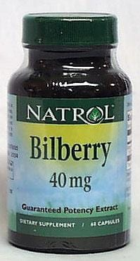 Natrol Bilberry - 60 caps