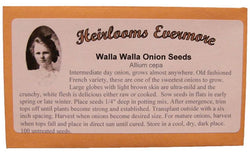 Heirlooms Evermore Walla Walla Onion Seeds - 100 seeds
