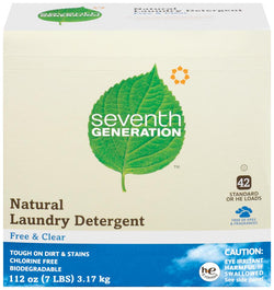 Seventh Generation Laundry Powder Free & Clear 70 loads - 4 x 112 ozs.