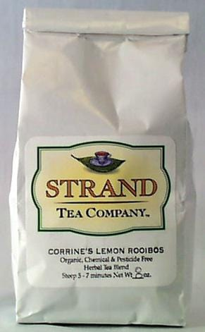Strand Tea Corrine's Lemon Rooibos Tea Organic - 8 ozs.