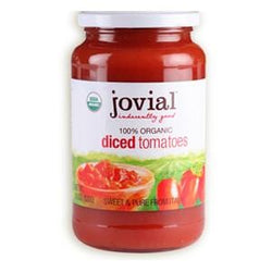 Jovial Foods Tomatoes, Diced, in Glass, Organic - 18.3 oz