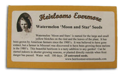 Heirlooms Evermore Watermelon Moon and Star Seeds - 25 seeds