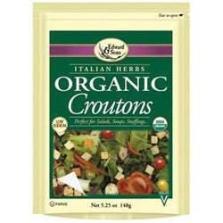 Edward & Sons Croutons Italian Herbs Organic - 6 x 5.25 ozs.