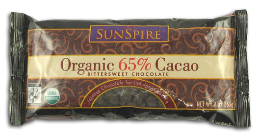 Sunspire Chocolate Chips 65% Cacao Organic - 12 x 9 ozs.
